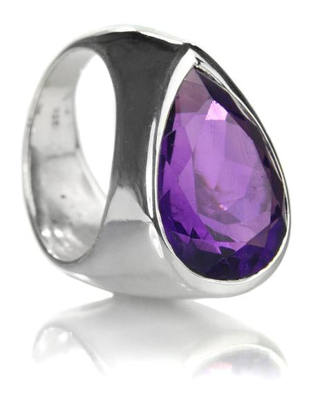 Side Paisley Ring Amethyst