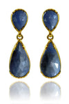 Double Teardrop Elegante Earrings Sapphire