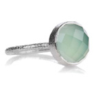 Capri Small Circle Ring Aqua Chalcedony