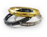 Single Mantra Bangle Ruthenium