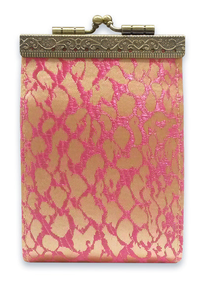 Card Holder Pink and Gold