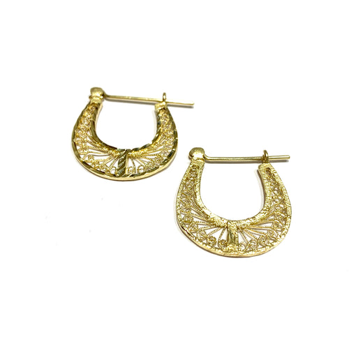 10k Gold Egyptian Filigree Earrings