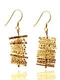 18K Gold Plated Turning Twig Earrings