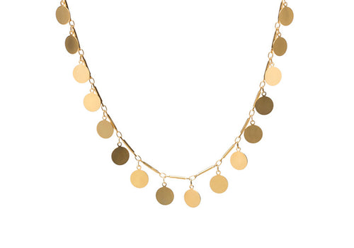 14Kt gold plated Gold Confetti Neckalce (small gold dangling coins)