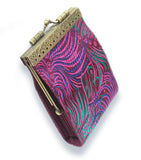 Cathayana Card Holder Purple/ Green and Blue Peacock