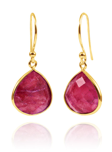 Rani Teardrops Rough Cut Ruby