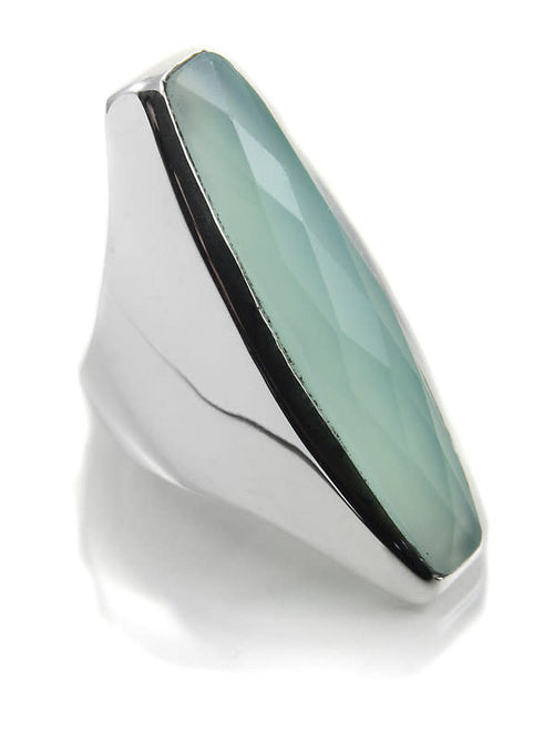 Colosseum Cocktail Ring Aqua Chalcedony