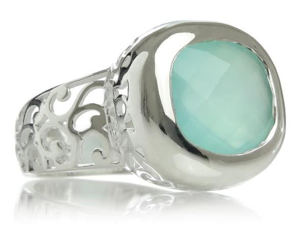 Arabesque Square Filigree Cocktail Ring