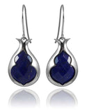 Arabesque Stone Lantern Earrings Lapis Lazuli