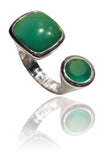 Mexico City Art Deco Ring Green Onyx