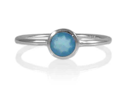 Bilbao Stacking Ring Blue Chalcedony