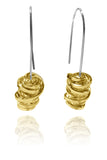 Spanish Sculptured Nido Earrings Brass