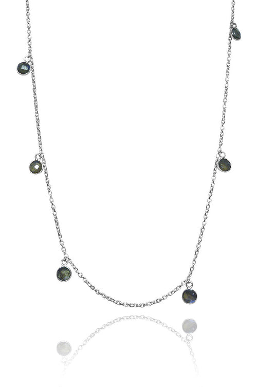 Kathak Dangle Necklace Labradorite