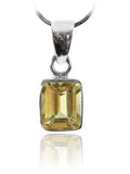 Small Rectangular Pendant Citrine
