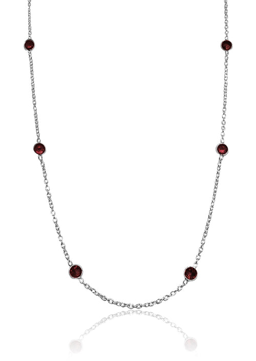 Tiny Kathak 8 Stone Necklace Garnet