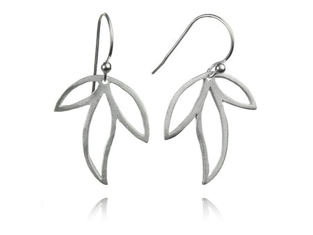 Classic Silver Swirly Earrings Small