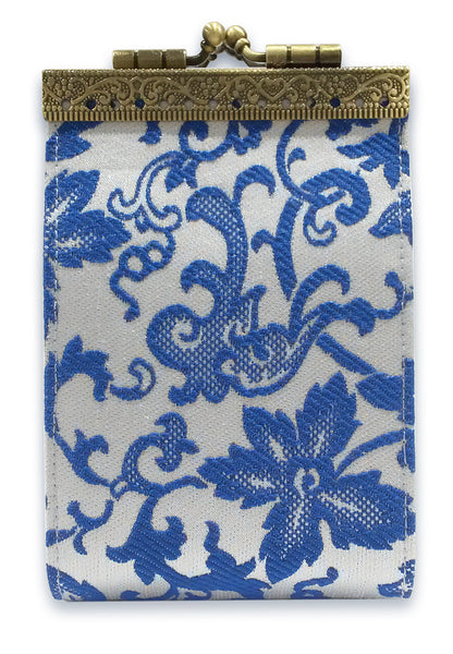 Card Holder Blue and White