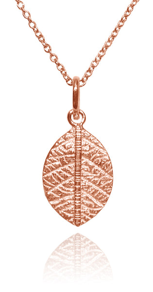 Rose Gold Plated Leaf Pendant and Chain