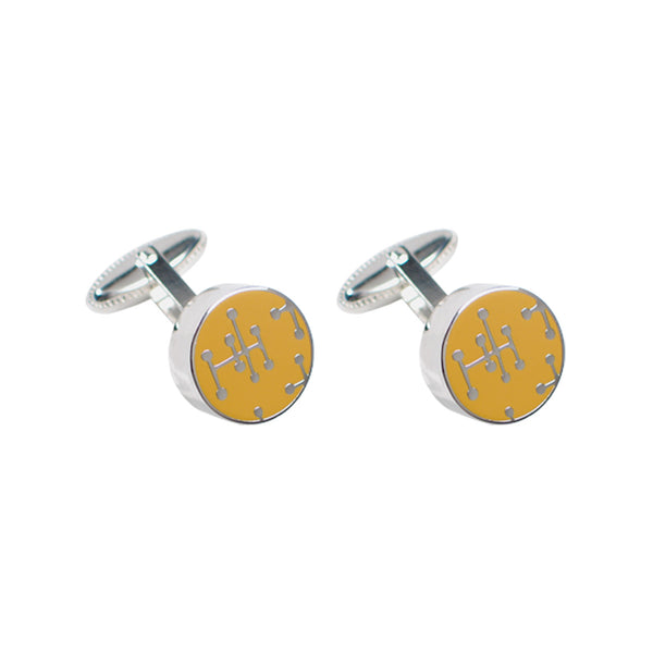 Yellow Dots Cufflinks (Charles & Ray Eames)