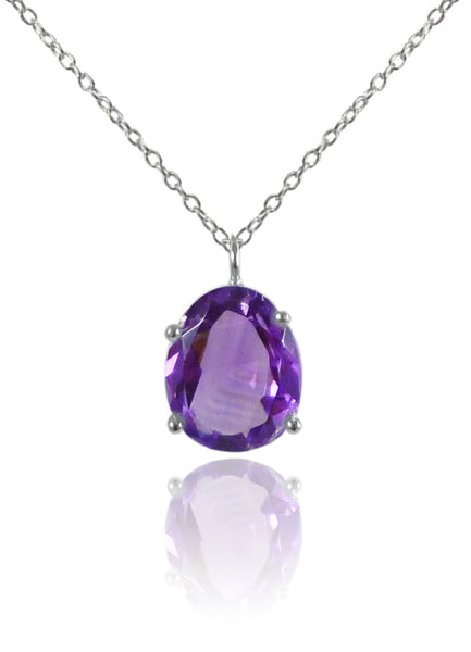 Jaipuri Stone Drop Necklace Amethyst