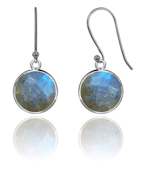 Medium Hanging Puntino Earrings Labradorite