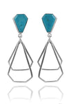 German Building Earrings Turquoise