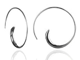 Classic Silver Swirly Earrings
