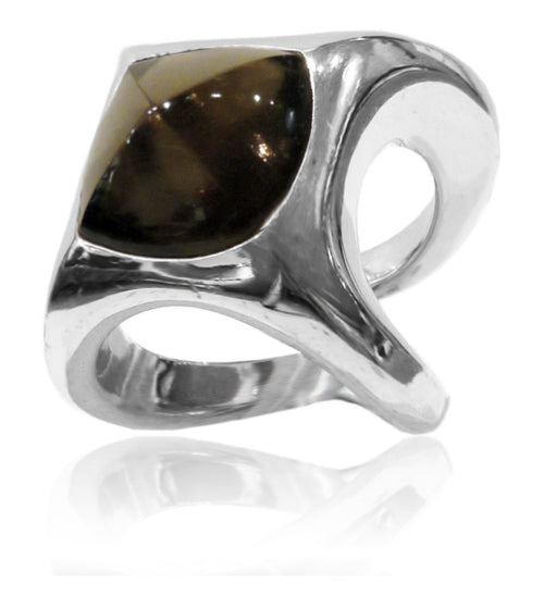 Tuffit Open Cocktail Ring Smokey Quartz