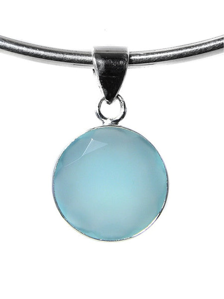 Gemstone Circle Pendant