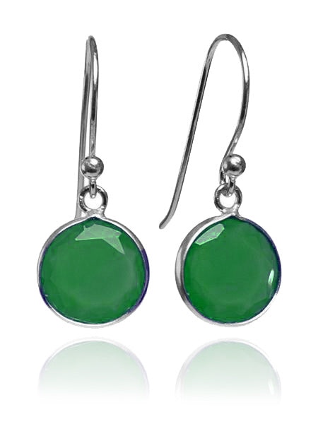 Hanging Puntino Earrings Green Onyx