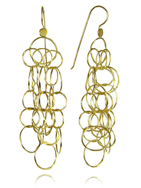 Brushed Mantra Curved Earrings