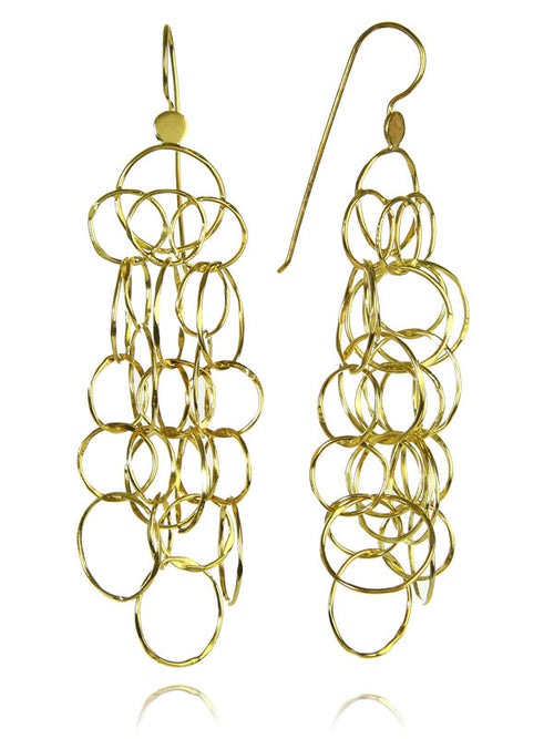 18K Gold Plated Milano Multi Circle Drops