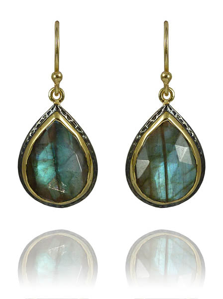 Haifa Teardrop Earrings Labradorite