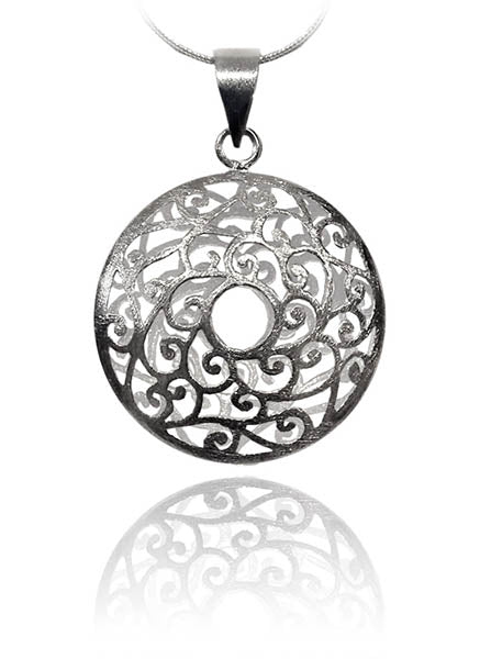 Arabesque Sun Disc Pendant