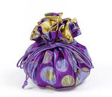 Jewelry Pouch Purple Polka Dots