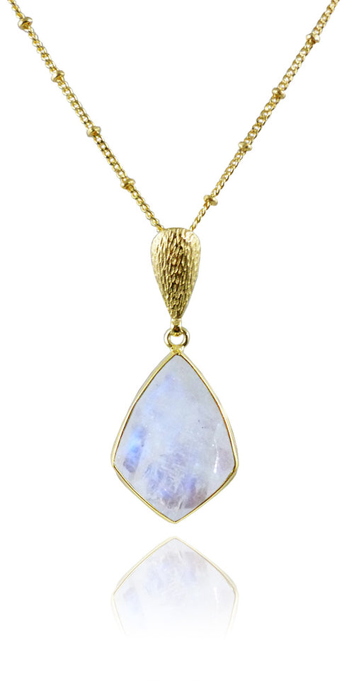 Ice Hole Necklace White Moonstone