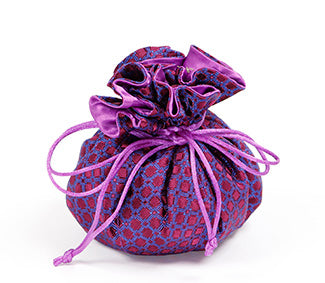 Jewelry Pouch Purple Checkers