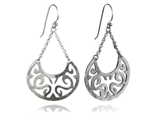 Arabesque Swing Earrings - Brushed