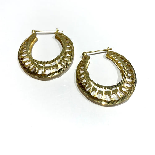 10k Gold Mexican Hoops