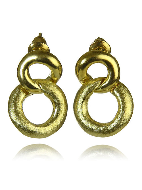 18K Gold Plated Small Bilbao Knot Earrings