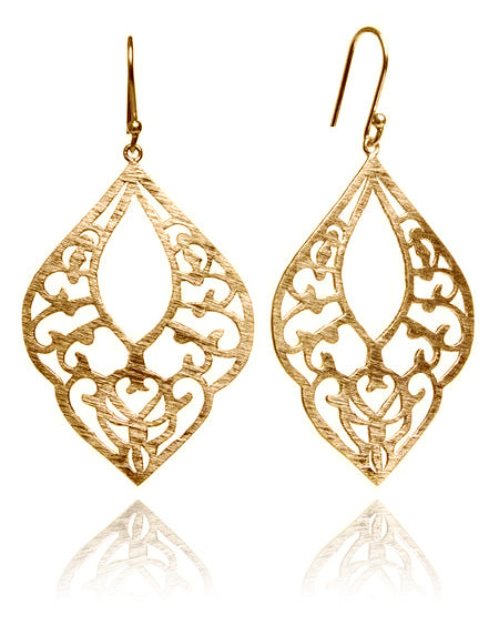 18K Gold Plated Arabesque Lantern Earrings