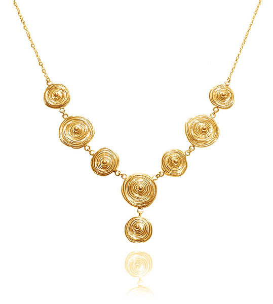 Gold Plated Jalebi Necklace