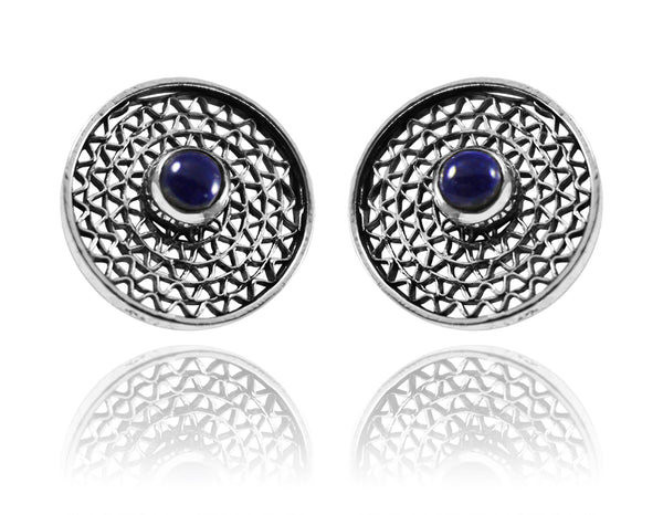 Tel Aviv Dot Earrings Lapis Lazuli