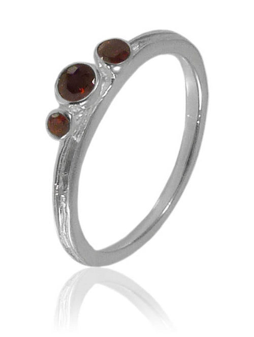 Amazon Three Stone Stacking Ring Garnet