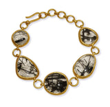 Grande Amazon River Rock Bracelet Black Rutile Quartz