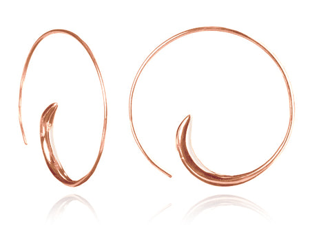 Brushed Curved Mogul Earring Drops