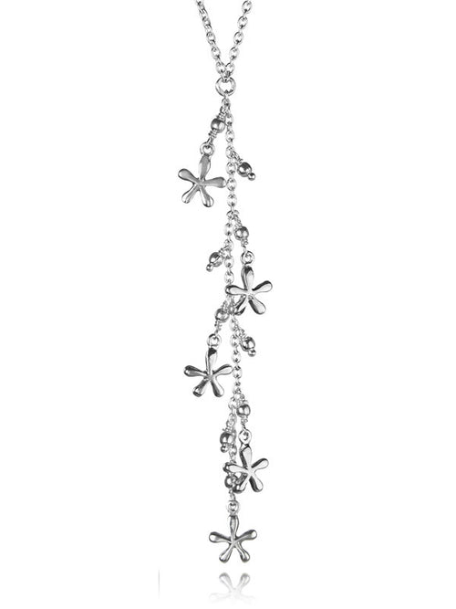 Bloom Flower Lariat Necklace