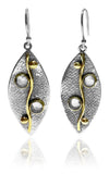 Two Stone Haifa Leaf Earrings