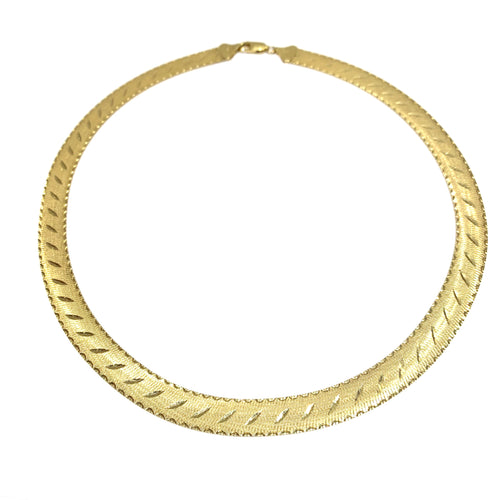 10k Gold Reversible Collar