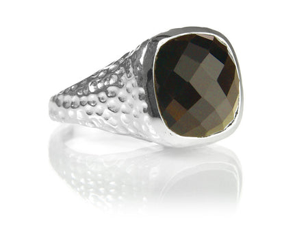 Gaudi Dome Ring with Faceted Stone Labradorite 7